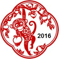 2016 Chinese Monkey Year